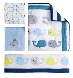 NEW Circo 4pc Baby Crib Nursery Bedding Set Whales 'n Waves