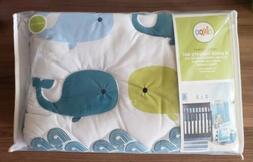 NEW Circo 4pc Baby Crib Nursery Set, Whales, Comforter, Shee