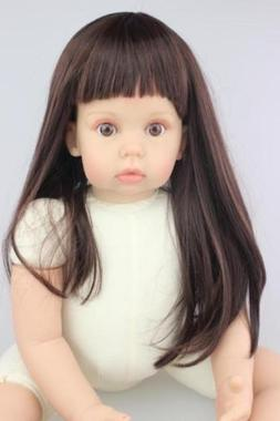 New Arrival 28'' Silicone Reborn Baby Girl Doll Naked Accomp