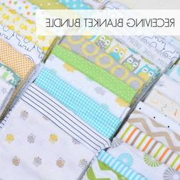 NEW Assorted 8 Piece Gender Neutral Baby Receiving Blanket L
