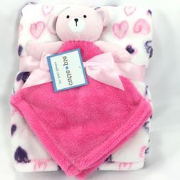 New Cutie Pie Baby & Security Blanket 2 Pc Set Fleece Plush