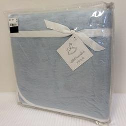 NEW Peacock Alley BABY Blanket 100% Egyptian Cotton w/ SUEDE