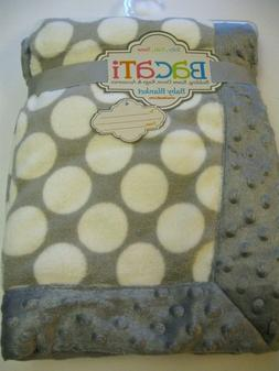 NEW - Bacati Baby Blanket 30 x 40 inches Gray Plush Baby Bla