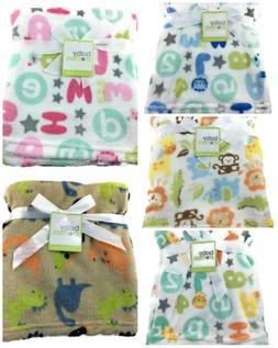 New Baby Blanket ABC Alphabet Stars Monkey Elephant Lion Gir