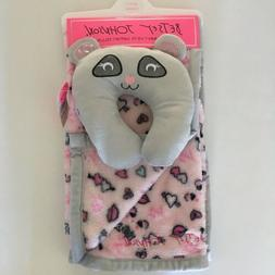 NEW Betsey Johnson Baby Blanket and Support Pillow Set