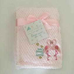 """NEW Mothers Promise Baby Blanket Pink 30"""" x 40"""" Honeycom"""