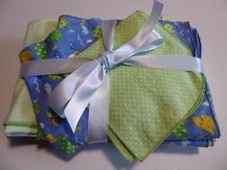 NEW Handmade Baby Blanket sets;1 Receiving, 2 burp, & 2 wash