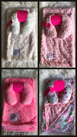 New !! Betsey Johnson baby Blanket With Support Pillow Set S