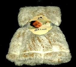 New!! Baby Boys Light BROWN/White ADIRONDACK Faux Fur BLANKE