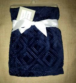 "New!! Baby Boys NAVY ""Sweet Dreams""  BLANKET  NWT  30"" x 40"""