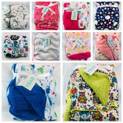 "New Baby Girls Boys Blankets Super Soft 30"" x 40"" Gift Baby"