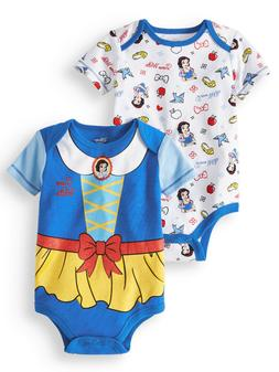 NEW Baby Girls Disney Princess Snow White 2 Pack Bodysuits S