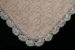 New Baby Shower Gift Receiving Blanket Girl Boy Hand Crochet