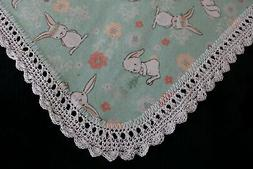 New Baby Shower Gift Receiving Blanket Girl's Hand Crochet E