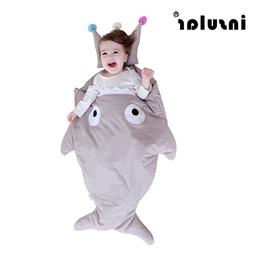 Brand Baby Sleeping Bag Shark Stroller Bed Blanket Swaddle W