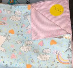"""New! Baby/toddler Blanket Double Flannel """"41x35""""  Unicor"""