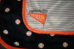 New Carters Just One You Baseball Baby Blanket Mommy's #1 Ca