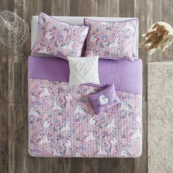 NEW! BEAUTIFUL COZY PINK WHITE PURPLE BLUE UNICORN POLKA DOT