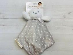 NEW Blankets & and Beyond Grey White Polka Dot Bear Baby Sec