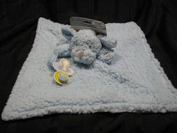 NEW Blankets and Beyond Blue Sherpa Puppy Dog Baby Blanket P