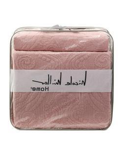 NEW NICOLE MILLER Boho Farmhouse Quilt Set Girl Blush Pink M