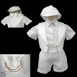 New Born Baby Boy Infant Christening Baptism Formal Tuxedo S