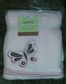 NEW Carter's Everyday Easy Baby Blanket -- Butterfly -- Pink