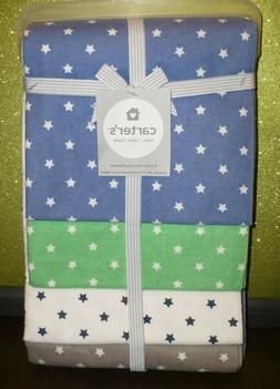 NEW ~ CARTER'S Flannel Receiving Blankets  ~ Hard to Find ST