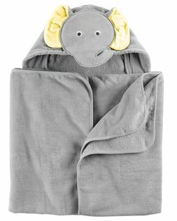 New Carter's Hooded Bath Towel Happy Elephant Face Terry Mat