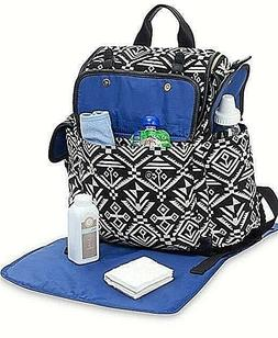 New Carters Baby Aztec Jacquard Backpack Diaper Bag - Black