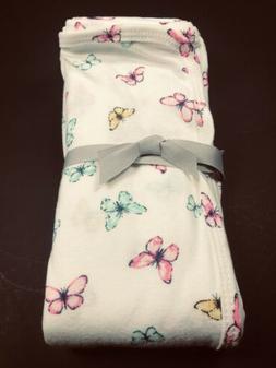 NEW Carters Baby Girl Swaddle Blanket Aqua Pink Yellow Butte