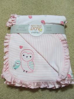 NEW Carters Just One You Pink ruffle trim Baby OWL Baby Girl