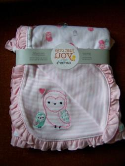 """New Carters Pink Owl Baby Blanket 28x32"""" NWT!!!"""