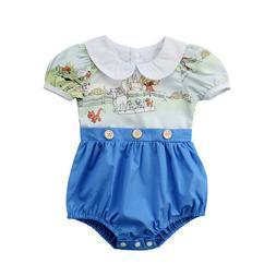 NEW Disney Aristocats Baby Girls Short Sleeve Romper Sunsuit