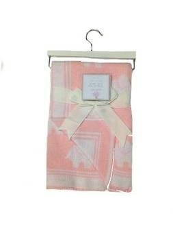 NEW - Little Luxury Girls Cotton Elephant Print Knit Baby Bl