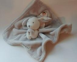 New Gray Blankets & Beyond Baby Security Blanket Bunny Rabbi