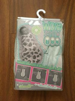 New Woombie Grow With Me 0-6 Months Original Peanut Swaddle
