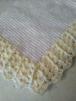 "NEW Hand Crochet Baby Blanket Afghan30"" x 26"""