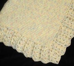 NEW Handmade Crochet Baby Blanket Afghan girl boy