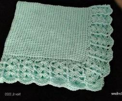 "NEW Handmade Crochet Baby Blanket Afghan  30"" x 26"""