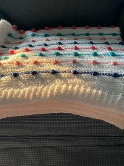 NEW Handmade Crochet Baby Blanket - Multi