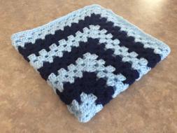 New Handmade Crocheted Baby Blanket Nursery Crib Bedding Boy