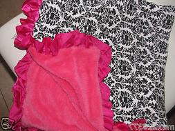 new hot pink soft knit baby nursery