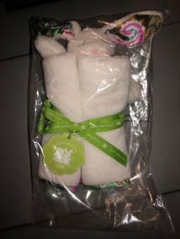 NEW IOP Vera Bradley White Bunny Tutti Frutti Security Blank