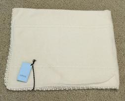 NEW Malo Italian 100% Cashmere Baby Blanket Throw Ivory Unis