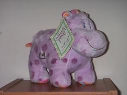 NEW Stephan Baby Jungle Babies Musical Windup Purple Hippo P