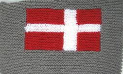 "NEW KSS Handmade Danish Flag Baby Blanket 21""x21"" Newborn an"