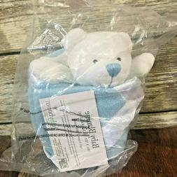 NEW Baby Boom Light Blue Angel Bear Lovie Lovey Security Bla