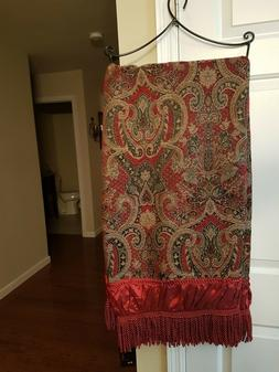 NEW Luxury Decorative Jacquard Throw Blanket 50 x 60 with Fr