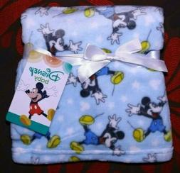 NEW Disney Baby Mickey Mouse Super Soft Flannel Snuggle Blan